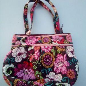 Multi color fabric handbag by Vera Bradley